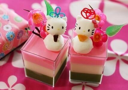 マシュマロキティ&ダニエルのひな祭りスイーツ,ひな祭り,お菓子,