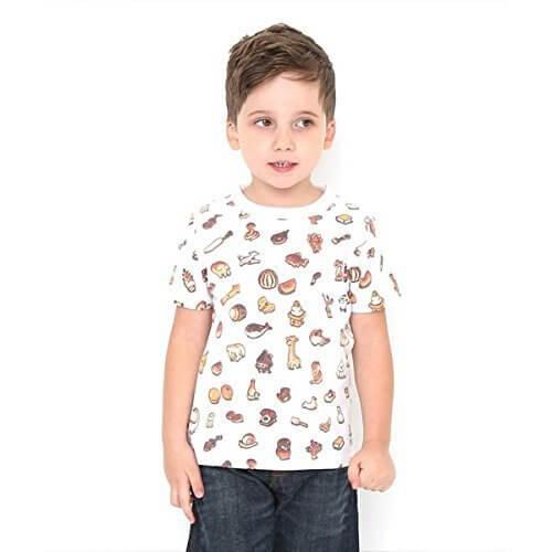 グラニフ(graniph) 【キッズ】かこさとしマルチパターンショートスリーブティー(からすのパンやさんパターン)【001ホワイト/120】,かこさとし ,Tシャツ,からすのパンやさん