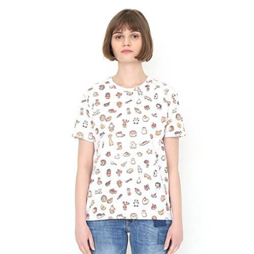 グラニフ(graniph) 【ユニセックス】かこさとしマルチパターンショートスリーブティー(からすのパンやさんパターン)【001ホワイト/M】,かこさとし ,Tシャツ,からすのパンやさん