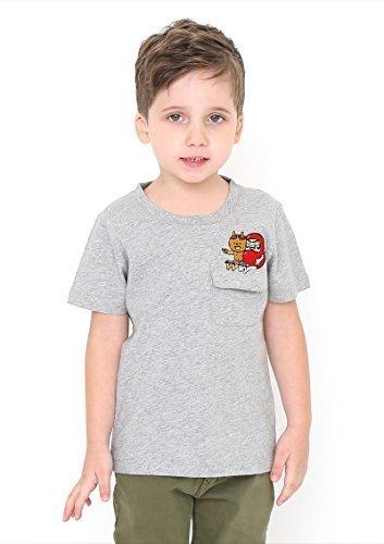 (グラニフ)graniph コラボレーションキッズ Tシャツ / だるまちゃんエンブロイダリー ( かこさとしショートスリーブティー ) ( ヘザーグレー ) 120,かこさとし ,Tシャツ,からすのパンやさん