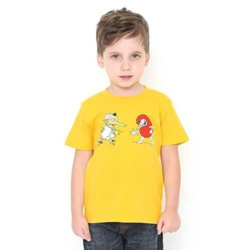 グラニフ(graniph) 【キッズ】コラボレーションキッズTシャツ/かこさとし(だるまちゃんとてんぐちゃん)【605イエロー/90】,かこさとし ,Tシャツ,からすのパンやさん