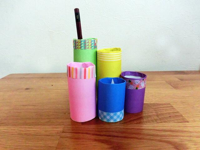 鉛筆立て 手作り トイレットペーパー,トイレットペーパー,手作り,おもちゃ