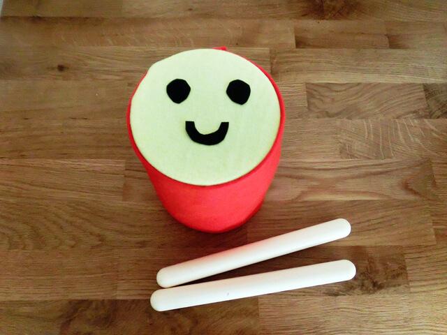 ミルク缶 太鼓 手作り 作り方,100均,手作り,おもちゃ