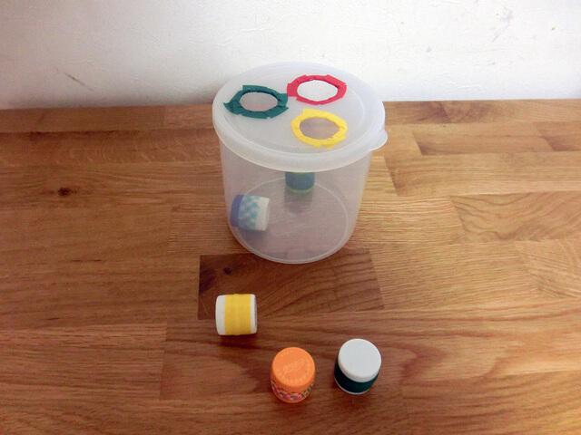 ペットボトルのフタ落とし 手作り 作り方,100均,手作り,おもちゃ