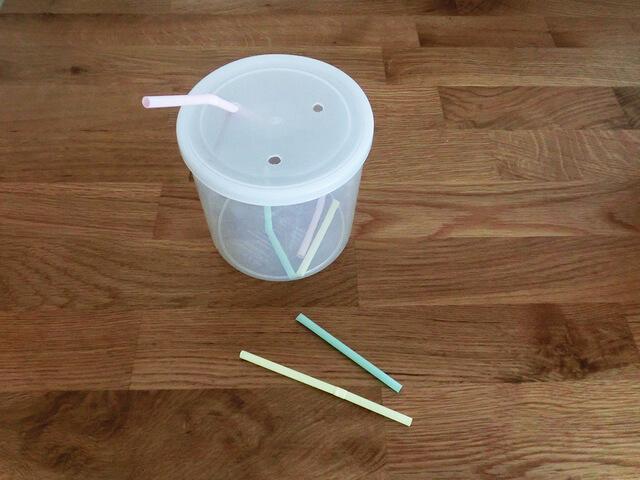ストロー落とし 手作り 作り方,100均,手作り,おもちゃ