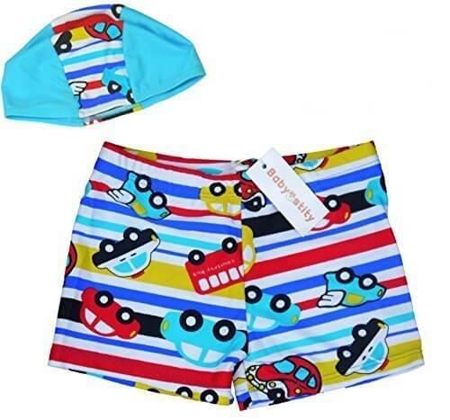 【Babystity】 子供 ベビー 男の子 水着 帽子 2点セット (100cm-115cm) KR-SWI001,幼稚園,水着,選び方