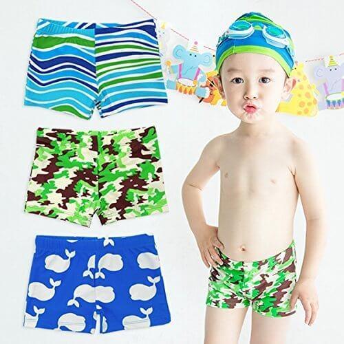 Boy's 総柄 ボクサー 水着 (90/クジラ) 【CN-SW011】 男の子 海水パンツ 海パン,幼稚園,水着,選び方