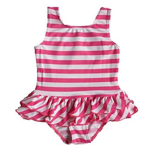 2016 女の子 子供 女児水着 みずぎ 可愛いピンク ストライプ ファッション キュート ワンピース水着 柔らかい 快適 スイミングウェア S179_8A,幼稚園,水着,選び方