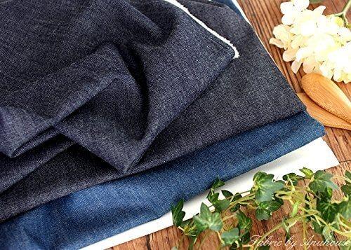 児島デニム 6オンス インディゴ染め くったりソフトデニム生地 (50cmで数1です) (インディゴ),手作り,ポーチ,