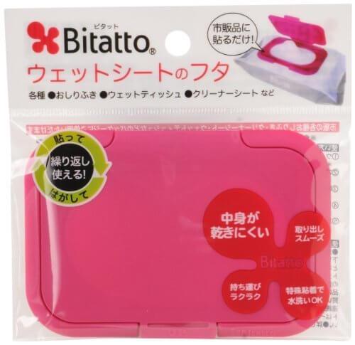 Bitatto ビタット ウェットシートのふた ストロベリー,手作り,ポーチ,