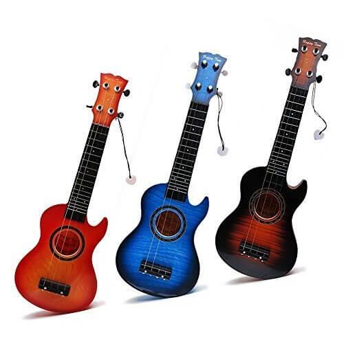 Wishtime おもちゃの楽器 ウクレレ ミニギター 色指定不可 XQ16009,ギター,おもちゃ,