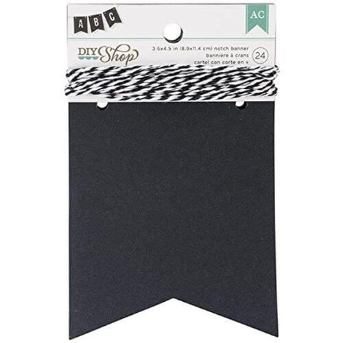 DIY ショップ バナー 24 個 W/文字列-黒板ノッチ、3.5,手作り ,ガーランド,
