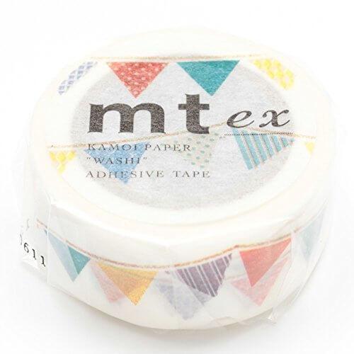 カモ井加工紙 マスキングテープex フラッグ MTEX1P82,手作り ,ガーランド,