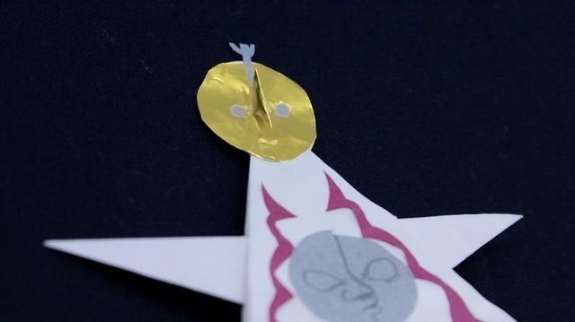 ,折り紙,太陽の塔,折り方