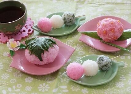 和菓子風おにぎり,お花見,弁当,