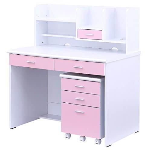 シンプルデザインで機能的なコンパクトデスク 学習机 LOOK4 (ホワイト&ピンク),ライフスタイル,学習机,選び方