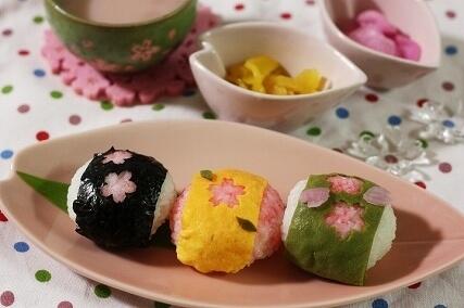 桜の手毬おにぎり,お花見,レシピ,