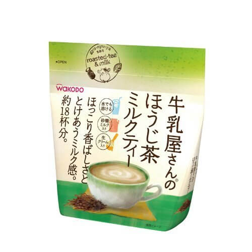 牛乳屋さんのほうじ茶ミルクティー 200g,牛乳屋さん,和光堂,