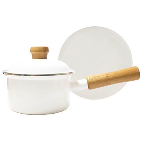 富士ホーロー ミニソースパン 12cm ポリフタ付 ホーロー鍋,離乳食,鍋,