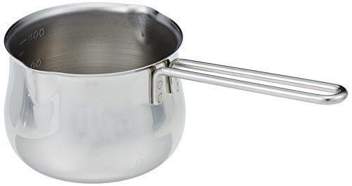 タケコシ 18-8ミルクパン 12cm 800cc目盛付 ワイヤーハンドル,離乳食,鍋,