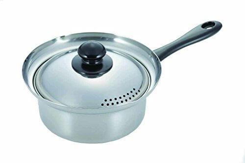 カクセー クロワール 吹きこぼれにくい湯切り鍋16cm CR-03,離乳食,鍋,