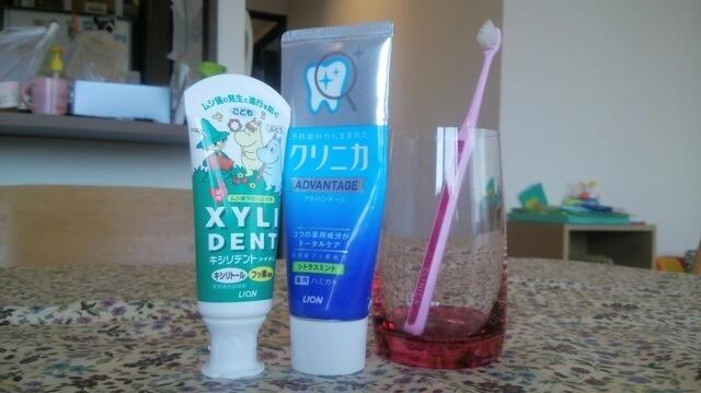 歯ブラシと歯みがき粉と歯みがきコップ,子供,歯みがき,習慣