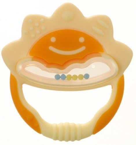 リッチェル Richell 歯がため ケース付 たいよう イエロー 3か月頃から対象,0歳,おもちゃ,