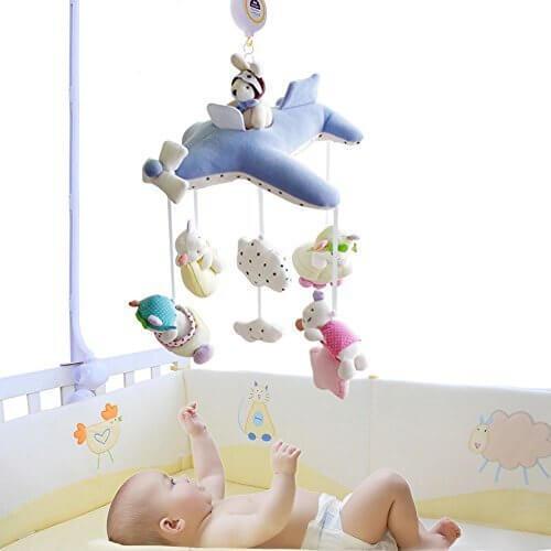 SHILOH ベビーぬいぐるみ ベビーベッド モバイル 60曲 ミュージカルボックスとアーム SHLOH-38,赤ちゃん,おもちゃ,