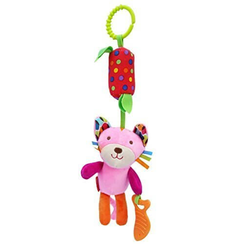 Seliyi 赤ちゃん ベビーベッド ベビーカー 吊り人形 おもちゃ ガラガラ ラトル 可愛い 動物 猫,赤ちゃん,おもちゃ,