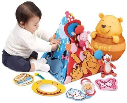 ディズニー くまのプーさん てあそびいっぱいボックスにへんしんジム,赤ちゃん,おもちゃ,