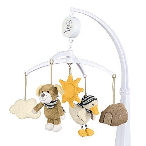 シュテルンターラー社 オルゴールメリー ベッドメリー ベッドアーム付き ドッグ&ダック,はじめて,おもちゃ,