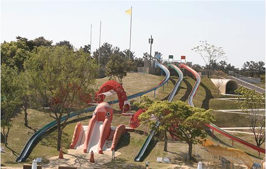 海の中道海浜公園 大ダコ滑り台,海の中道海浜公園,サイクリング,遊具