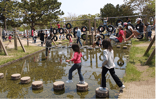 海の中道海浜公園 水辺のトリム,海の中道海浜公園,サイクリング,遊具