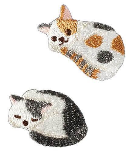 ハマナカ Coucou(クークー) ワッペン ネコ H457-948,子供服,リメイク,