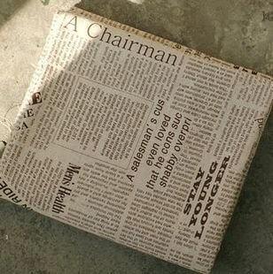 オシャレで シックな アンティーク風 英字新聞デザイン ハンドメイド布 145×50cm クッションや バッグ作りなどに,手作り,手帳,