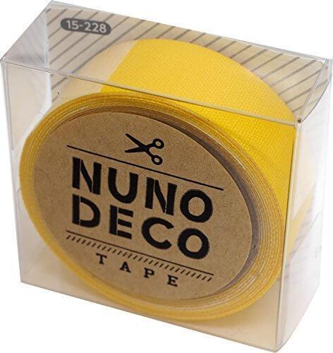KAWAGUCHI(カワグチ) NUNO DECO TAPE ヌノデコテープ 1.5cm幅 1.2m巻 つみきのきいろ 15-228,幼稚園,デコ,ヌノデコ