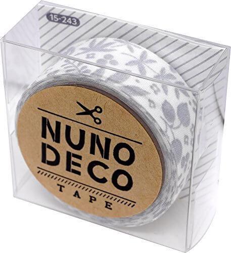 KAWAGUCHI(カワグチ) NUNO DECO TAPE ヌノデコテープ 1.5cm幅 1.2m巻 北欧の冬 15-243,幼稚園,デコ,ヌノデコ