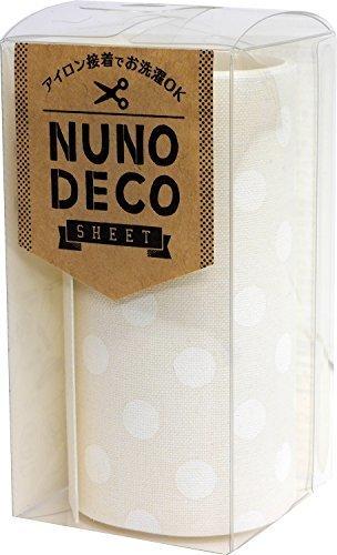 KAWAGUCHI(カワグチ) NUNO DECO SHEET ヌノデコシート 8cm幅 50cm巻 しろい水玉 15-255,幼稚園,デコ,ヌノデコ