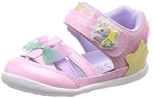 [キャロット] サマーシューズ ベビー 靴 マジック 足に優しい 足育 ゆったり CR B103 ピンク 13.5 cm 2E,ベビー,サンダル,おすすめ