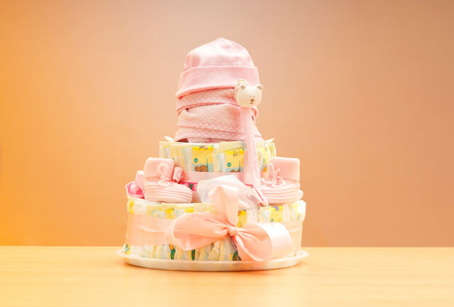 おむつケーキ,100均,出産祝い,おむつケーキ