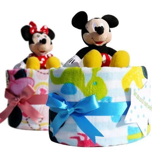 ディズニーのおむつケーキ,100均,出産祝い,おむつケーキ
