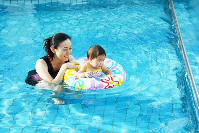 浮き輪ドーナツタイプ赤ちゃんママ,赤ちゃん,浮き輪,