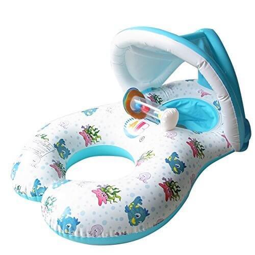浮き輪 ベビー ,タンデムリング ボート 親子うきわ 赤ちゃん 夏 2人用 (白),赤ちゃん,浮き輪,
