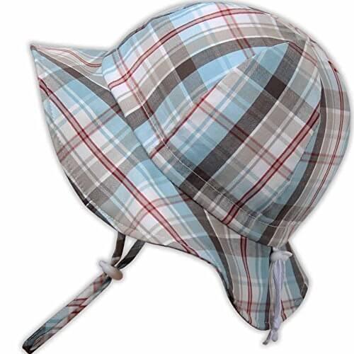 幼児50+ UPF日光予防帽子、サイズの調整可能。チン・ストラップ付き (M: 9—24ヶ月, サマープレード ),UVカット,帽子,