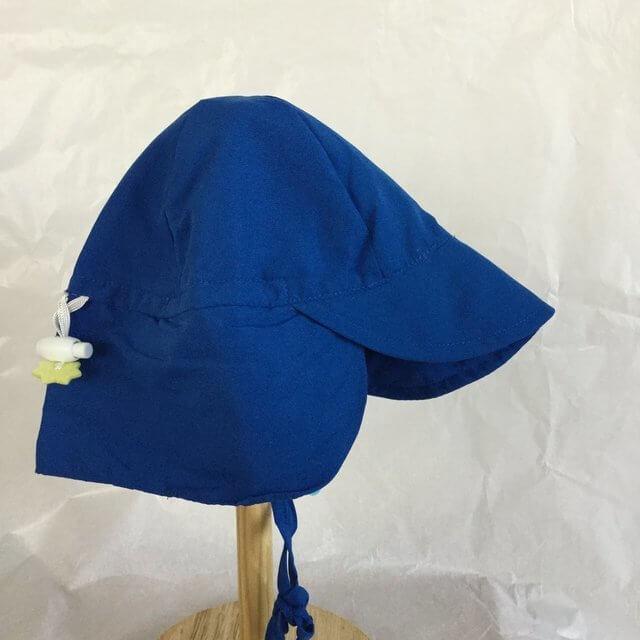 赤ちゃん 幼児 向け UVカット帽子 紫外線対策 保育園 幼稚園 運動会 潮干狩り お出かけ用 UPF50+ iplay ソリッドフラップ サンプロテクションハット ロイヤルブルー RisingShine,UVカット,帽子,