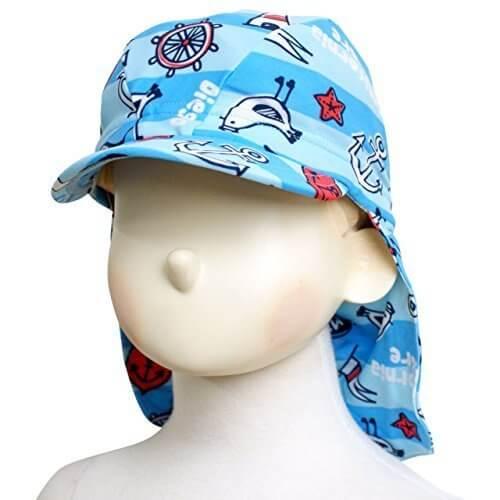 スイムキャップ 日よけキャップ 子供 ベビー キッズ UVカット つば付き 水泳帽子 サックス F,UVカット,帽子,