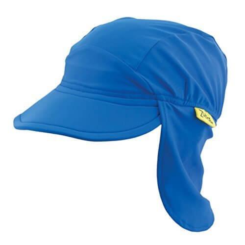 バンズ フラップ付きキャップ ブルー M,UVカット,帽子,