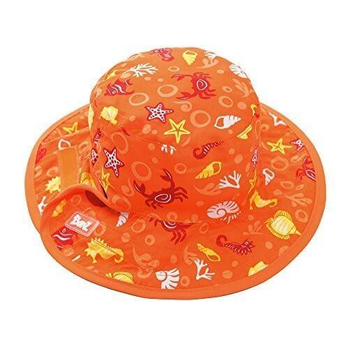 Banz(バンズ) オーストラリア発 リバーシブルハット UPF50+ UVカット ベビー用 海の生き物オレンジ,UVカット,帽子,