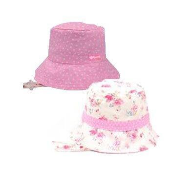 Kooringal(クーリンガル) リバーシブル お花模様とピンク水玉の帽子 (51cm) 女の子 UVカット UPF50,UVカット,帽子,