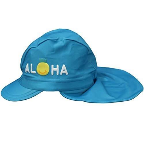 アスナロ(帽子・キャップ) スイムキャップ 子供 キッズ 女の子 日よけ布 水泳帽 日焼け防止F サックス,UVカット,帽子,
